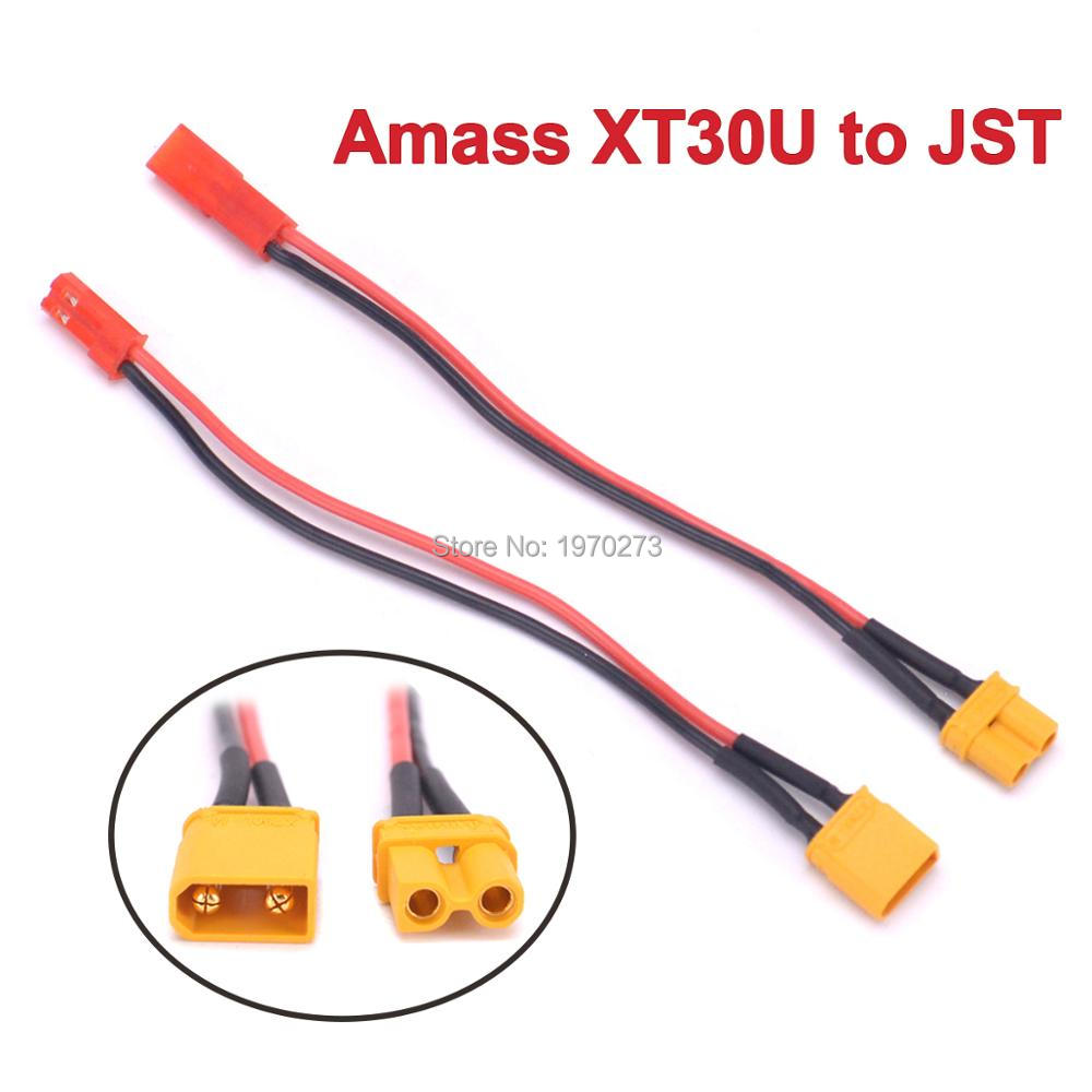 JST Male Connector to XT30 Style Male 22 AWG Wire Adapter