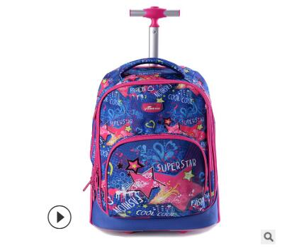 Trolley backpacks bags for teenagers 18 inch Wheeled backpack bag for School backpack On wheels Children luggage Rolling Bags school rolling backpack 18 inch wheeled backpack for girls kids school bag on wheels children trolley backpack bag for teenagers
