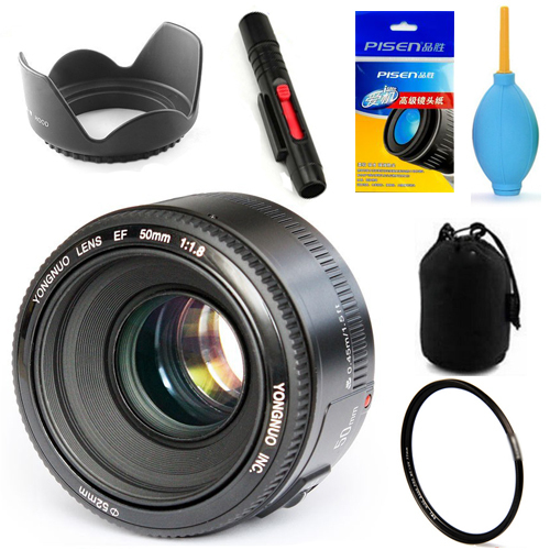 In Stock! <font><b>YONGNUO</b></font> YN 50mm F1.8 Lens Large Aperture Auto Focus Lens for Canon Lens Kit image