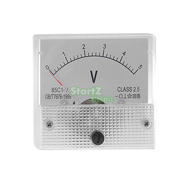 DC アナログメーターパネル 5 V 電流電圧電流計 85C1 0-5 V ゲージ