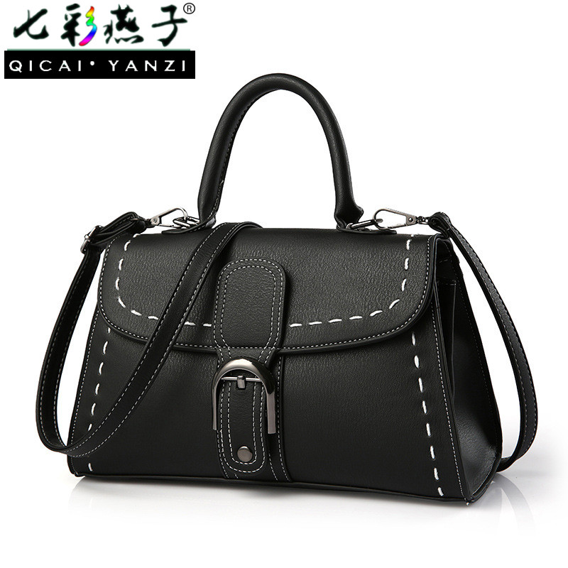 QICAI YANZI Women Luxury Bags Lady Leather Handbags Mujer Elegant Belt Buckle Haso Clutch Crossbody Bag