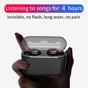 Image 4 - HBQ Bluetooth 5.0 słuchawki przenośne TWS bezprzewodowe douszne dźwięk radia 3D z mikrofonem zestaw głośnomówiący słuchawki sportowe Auto parowanie zestaw słuchawkowy