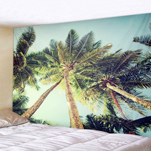 Beautiful Coconut Landscape Print Wall Tapestry Cheap Hippie Wall Hanging Hohemian Tapestry Tapestry Mandala Wall Art D все цены