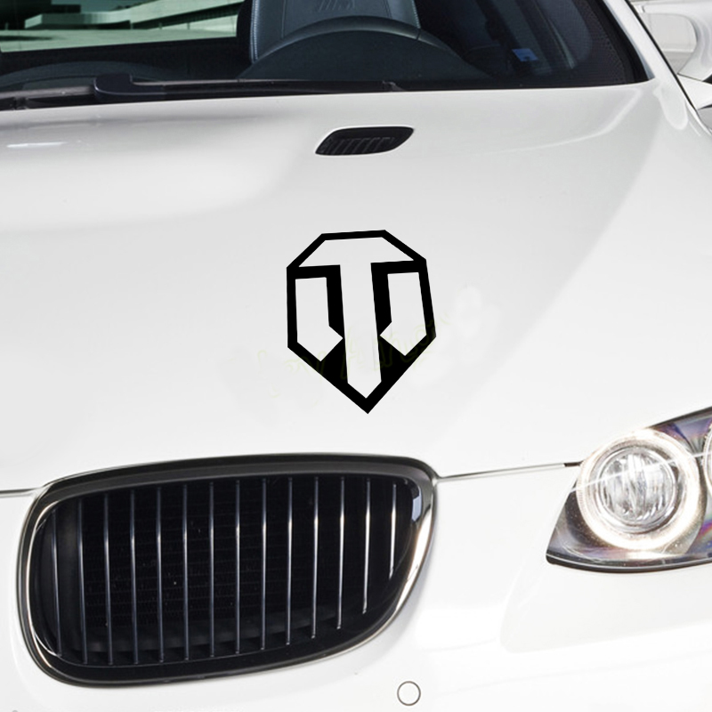 US $1 28  Vinyl sticker World of tanks For Audi BMW TOYOTA laptop pad ipad  mac decal car styling Wall stickers Car Styling Accessories-in Decals &