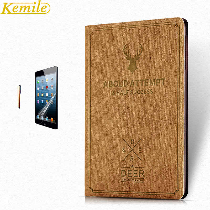 Kemile Case for iPad Mini 1 2 3 Ultra Slim Lightweight for iPad Mini Deer Auto Wake&Sleep Smart Stand Holder Folio Case Cover