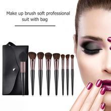 Soft Hair Eye Shadow Foundation Powder Makeup Brushes Set wi
