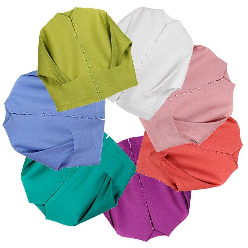 Delle donne Multi Colored Solido Sciolto Cappotto Monopetto A Manica Lunga Tasche Casual Giacca Europea Delle Donne Della Tuta Sportiva Vestiti-in Giacche basic da Abbigliamento da donna su  Gruppo 1