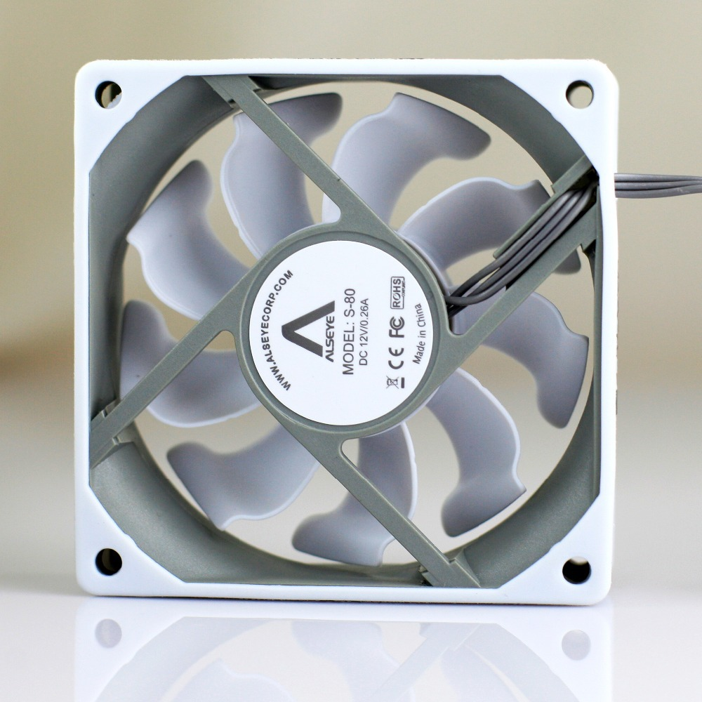 Alseye 3pieces White 80mm Fan For Computer Case Cpu Cooler 12v Casing 12cm Silicone Skin 2000rpm 3pin Cooling Radiator In Fans From