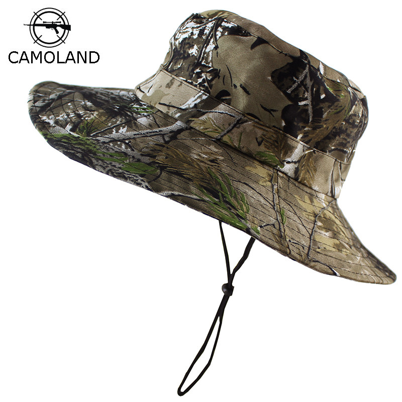 b8fe4f78acd Tactical Airsoft Sniper Camouflage Boonie Hats Nepalese Cap Militares Army  Mens Military Hiking Hats Summer Bucket