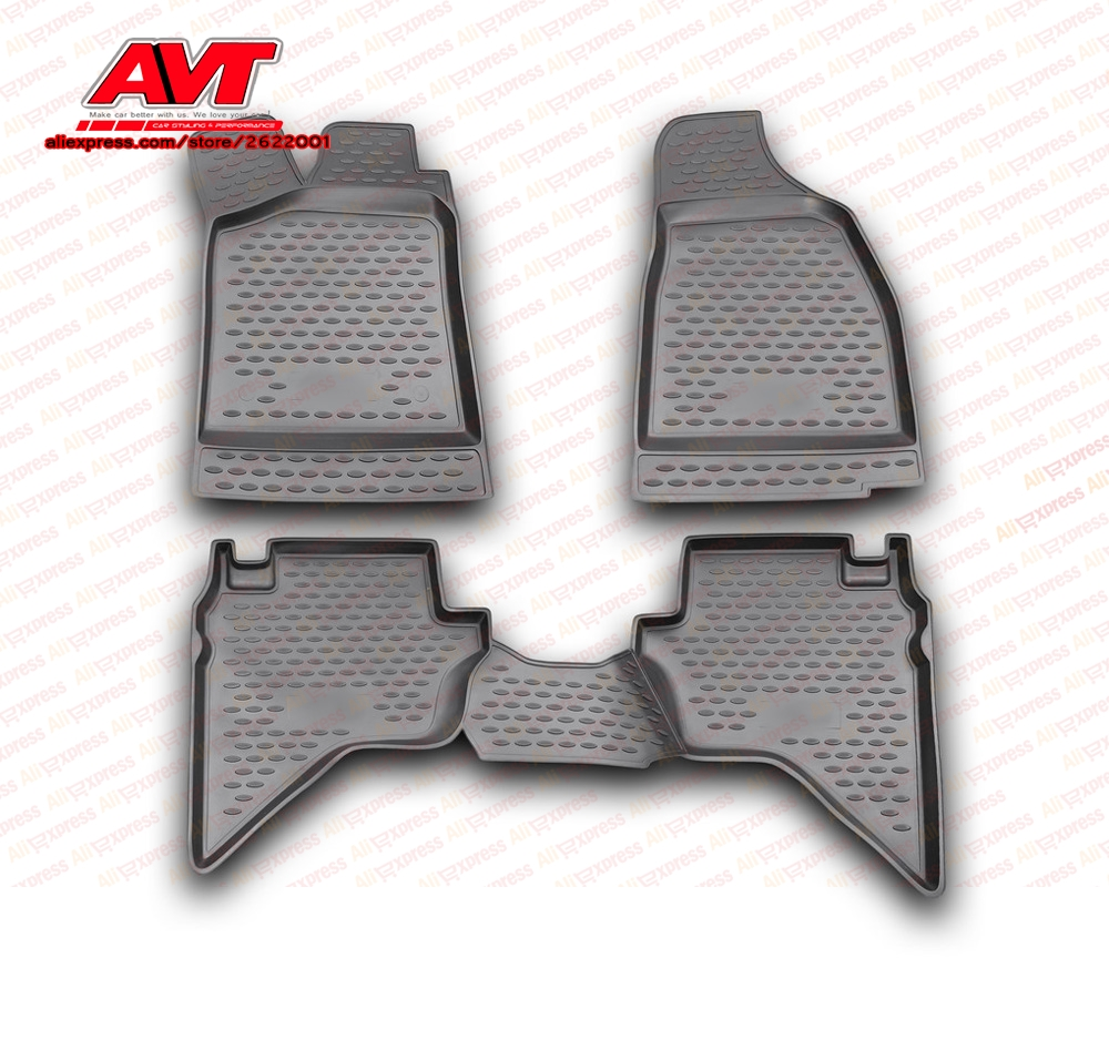 Floor mats for Mazda BT-50 2006-  4 pcs rubber rugs non slip rubber interior car styling accessories