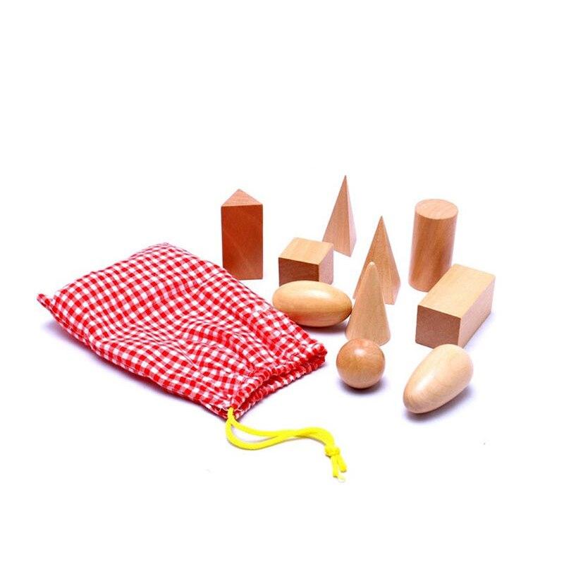 2016 новое поступление Математика игрушки Монтессори математика Juguetes геометрия блоков деревянный обучения Образование высокое качество ...