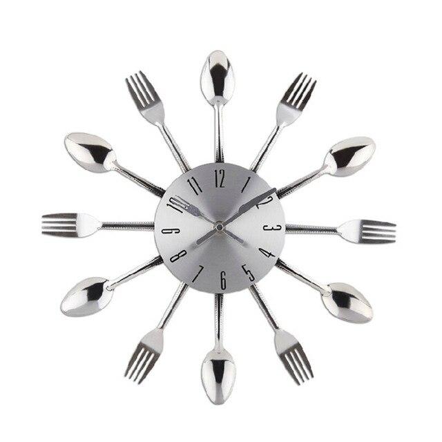 Vendita calda Design Moderno Posate Utensile Da Cucina Orologio Da ...