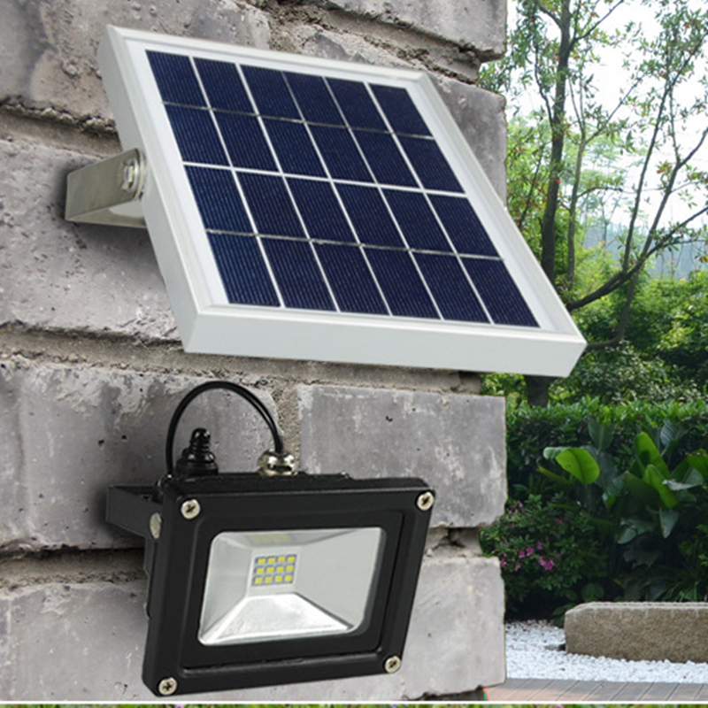 buy outdoor solar powered led flood light 10w with 5m