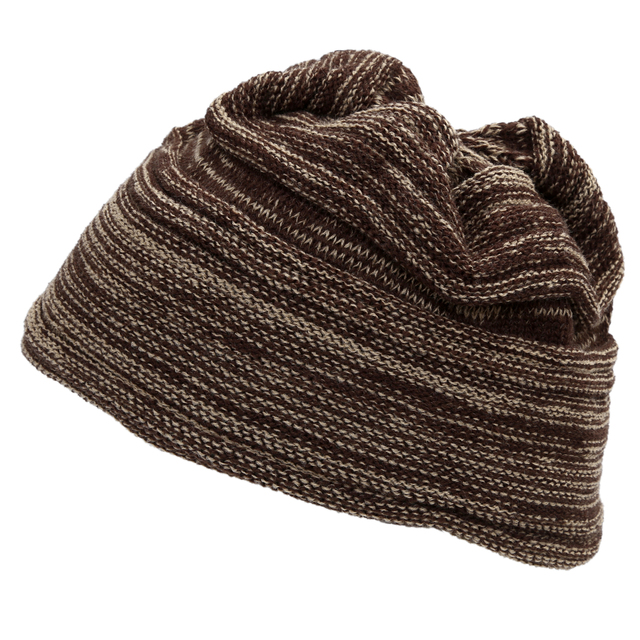 e86b098b0f2 Coffee Khaki Mens CuteThick Knit Warmer Ribbing Cuff Beanie Hatfor Men Gift