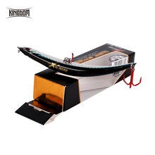 Kingdom — Appât flottant dur pour la pêche, leurre pour attraper des poissons, forme arrondie, avec hameçon rouge, matériel pour pêcher les bars,110 mm, 10g ou 86 mm, 6,5 g, modèle 5349