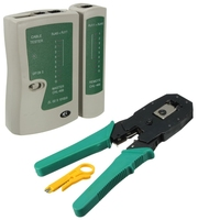 Utp כבל בוחן Plier מלחץ מלחץ Plier עם תקע חוט מהדק חשפנית מחשב רשת כלי נייד LAN רשת כלי ערכת|מזהה מפסקים|כלים -