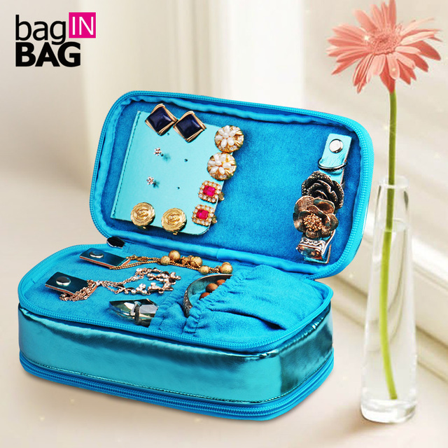 The vivid multifunctional double layer cosmetic bag jewelry bag storage bag travel organizer