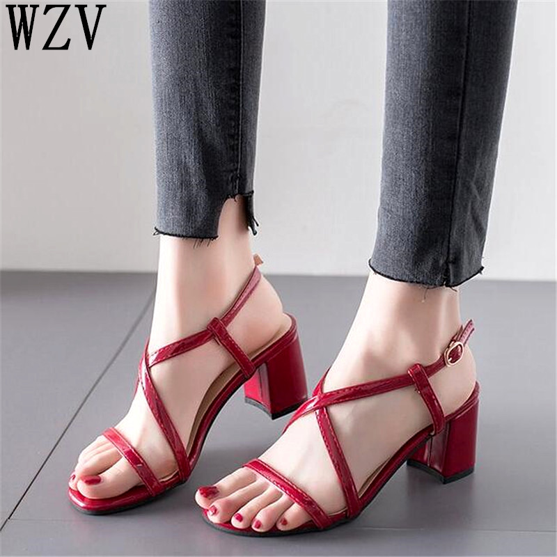 Women Sandals Ankle Strap Peep Toe Female Summer 2019 High Heel Shoes Woman Roman Sandals Ladies Sandalias Mujer E634Women Sandals Ankle Strap Peep Toe Female Summer 2019 High Heel Shoes Woman Roman Sandals Ladies Sandalias Mujer E634