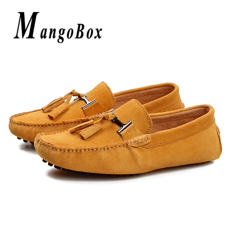 Big Size Man Loafers Size 38-48 Mens Casual Loafers Green Yellow Suede Male Shoes Slip-On Classic Tassel Loafers For MenBig Size Man Loafers Size 38-48 Mens Casual Loafers Green Yellow Suede Male Shoes Slip-On Classic Tassel Loafers For Men