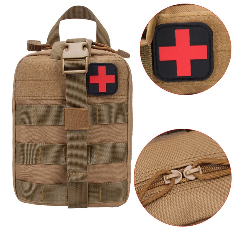 Hot Outdoor Molle Medical Package Utility Tactical Pouch Medical First Aid Kit Patch Bag Cover Hunting Emergency Survival Bag-in Safety & Survival from Sports & Entertainment
