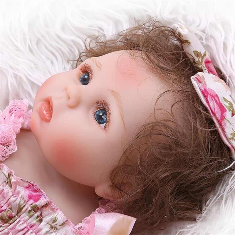 48 см мягкое полное Силиконовое боди для новорожденных, для девочек куклы и платье Милая Детская модель куклы реквизит для фотосъемки Рождественский подарок на день рождения