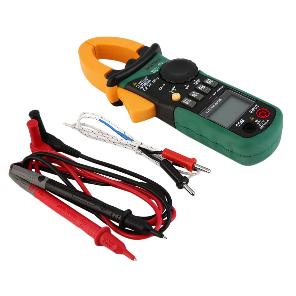 MASTECH Clamp Meters AC/DC Digital Multimeter Electric Tester Current Clamp Meter Ammeter MS2008B mastech m266 digital ac clamp meter ac dc voltage ac current tester