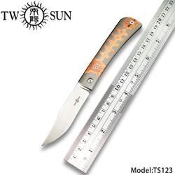 TWOSUN M390 Tasche Klapp Messer camping messer jagdmesser camping messer outdoor survival tool SLIP JOINT Titan EDC TS123