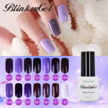 BlinkinGel Purple Nail Shilak Gel Lacquer Professional UV Gel Varnish 8ml Long Lasting Gels for Nails Finger