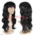 Black Anime Air Volume Wigs High Temperature Silk Bulk Long Curly Big Wave Wigs Hair Cosplay