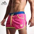 Quick Dry Men Pantalones Cortos de Mar Moda Maillot De Bain Sexy Beach Bermudas Cintura Elástica Forro Forro Pantalones Cortos de Los Hombres AC432