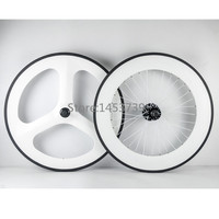 Good Design Front 65mm 3 Spoke Wheel Rear 88mm Carbon Wheelset Fixed Gear Track Bike Carbon