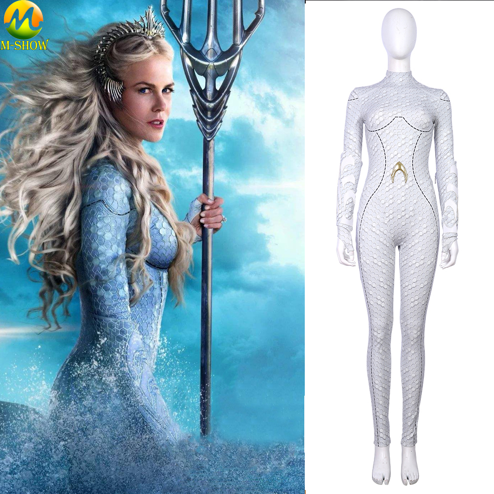 Movie Aquaman Atlantis Queen Atlanna Cosplay Costumes Women Leather Atlanna Jumpsuits Outfit Halloween Costume For Female