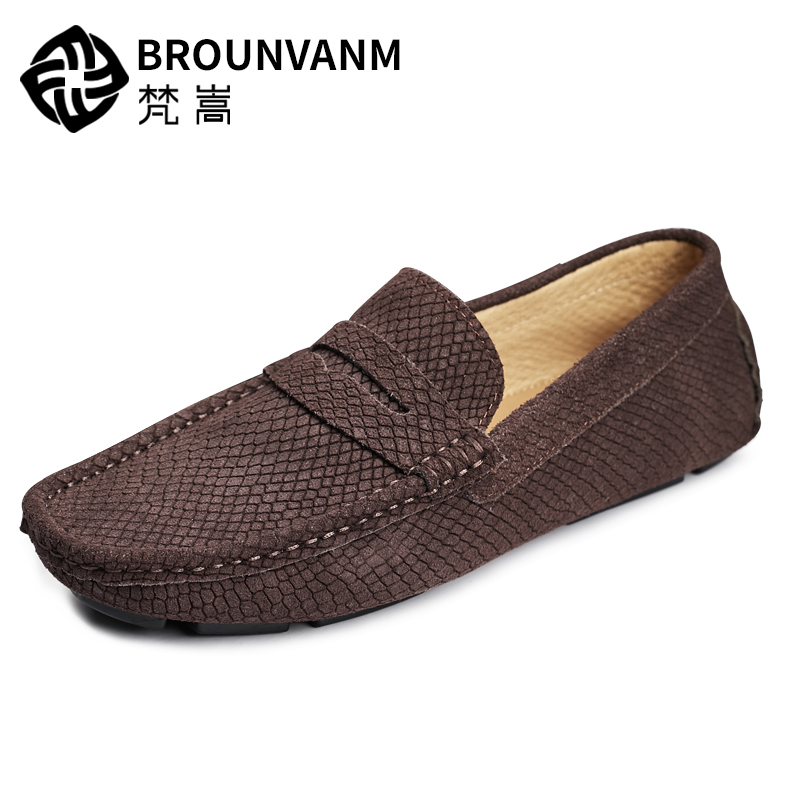 Top Genuine Leather Leisure Men Serpentine Loafers Slip On Driving Moccasin Business Man Snake print Casual Boat Shoes klywoo breathable men s casual leather boat shoes slip on penny loafers moccasin fashion casual shoes mens loafer driving shoes