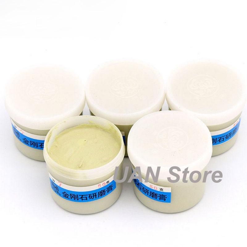 50g/box Diamond Polishing Lapping Paste Compound Syringes W0.5 ~W40 Micron Glass Metal Grinding Polishing Abrasive Tools