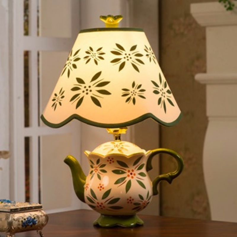 led living room lamps modern creative fashion colorful ceramic tea pot 13152