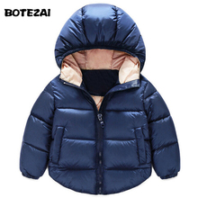 2016 Fashion Children Down Parkas Kids clothes Winter Thick warm Boys girls jackets & coats baby thermal liner down outerwear