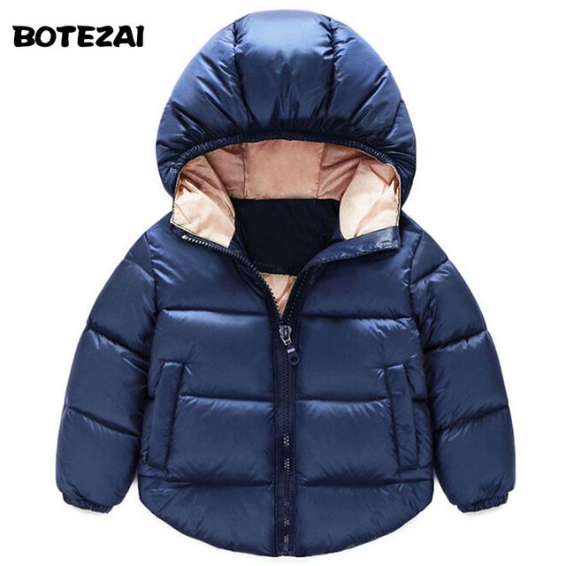 2016 Niños de La Manera Abajo Parkas Niños ropa de Invierno Gruesa caliente Niños niñas chaquetas y abrigos de bebé forro térmico abajo prendas de vestir exteriores
