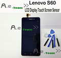 For Lenovo S60 LCD Display+Touch Screen 100% New Digitizer Glass Screen For Lenovo S60 S60W 1280X720 HD 5.0inch Phone