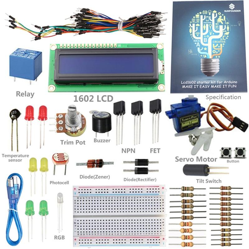 SunFounder 1602 LCD Starter Kit Pour Arduino UNO R3 Mega2560 Mega328 Nano Avec L'emballage de Détail (sans Contrôleur)