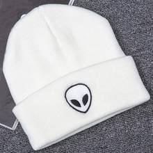 15753b43933 Spring Warm Cotton Acrylic Adult Unisex Fashion Bonnet Femme Cartoon Alien  Knitting Hat Winter Cap Warm Hats Beanies