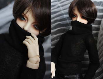 Fashion black sweater  For BJD 1/4 1/3 ,SD17 ,UNCLE Doll Clothes Accessories fashion three piece suit for bjd 1 3 1 4 sd17 uncle doll clothes accessories