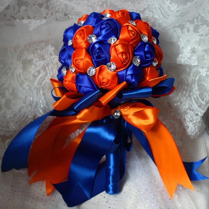 Royal Blue And Orange Wedding Flowers