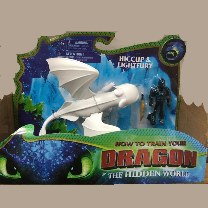 In Stock Light Fury How To Train Your Dragon 3 Light Fury Toothless Dolls DecorationToy Dragon Action Figures Christmas Gift