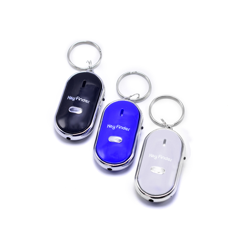 FGHGF Smart Finder Key Sensors KeyChain Sound LED with Whistle Claps Finder Locator Find Lost Keychain Finder Self Defense Alarm sound activated 433 92mhz 1 to 1 wireless key finder blue black 1 x cr2032