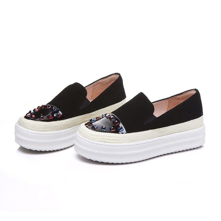 b725979067af6 ... shoes  Zorssar  Rhinestone womens flats Female on Loafers Creepers Slip sneakers  Fashion platform shoes ...