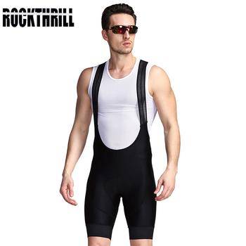 ROCKTHRILL Lycra strój rowerowy szorty rower górski męski rower wyścielane żelem rajstopy Triathlon Man Pro rowerowe śliniaki spodnie pod zużycie tanie i dobre opinie Poliester NYLON spandex Spodenki na szelkach Bib Shorts Jazda na rowerze Pasuje prawda na wymiar weź swój normalny rozmiar