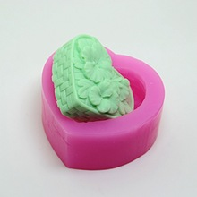 Heart Soap silicone mold Flower Pattern woven 3D Making molds