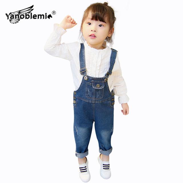 aeeb6263acb Girls Boys Overalls Toddler Loose Solid Button Denim Jumpsuits Baby Girls  Cotton Bib Overalls Kids Jumpsuit Boys Jeans Bib Pants