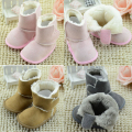 Winter Keep Warm Solid Color Cotton Soft Soled Keep Warm Wholesale Fashion Newborn Princess Baby Girls Boots First Walkers