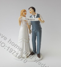Wedding Cake Topper Wedding Couple WE DID Custom Couple Cake Dolls
